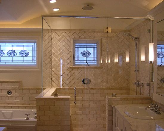 Traditional bathroom tile shower stall design pictures Tiles arrangement for bathroom
