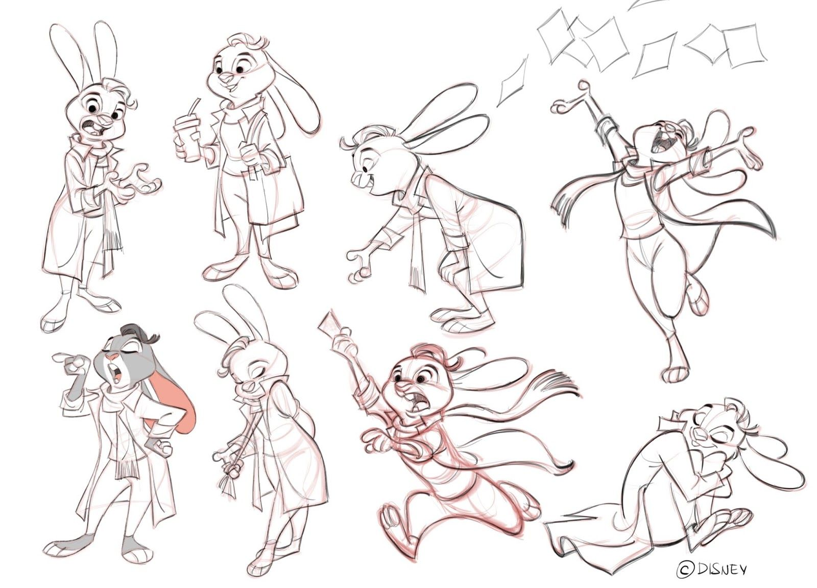 Cartoon Character Design Sheet : Cool art poses from borja montoro by zootopiafanart on