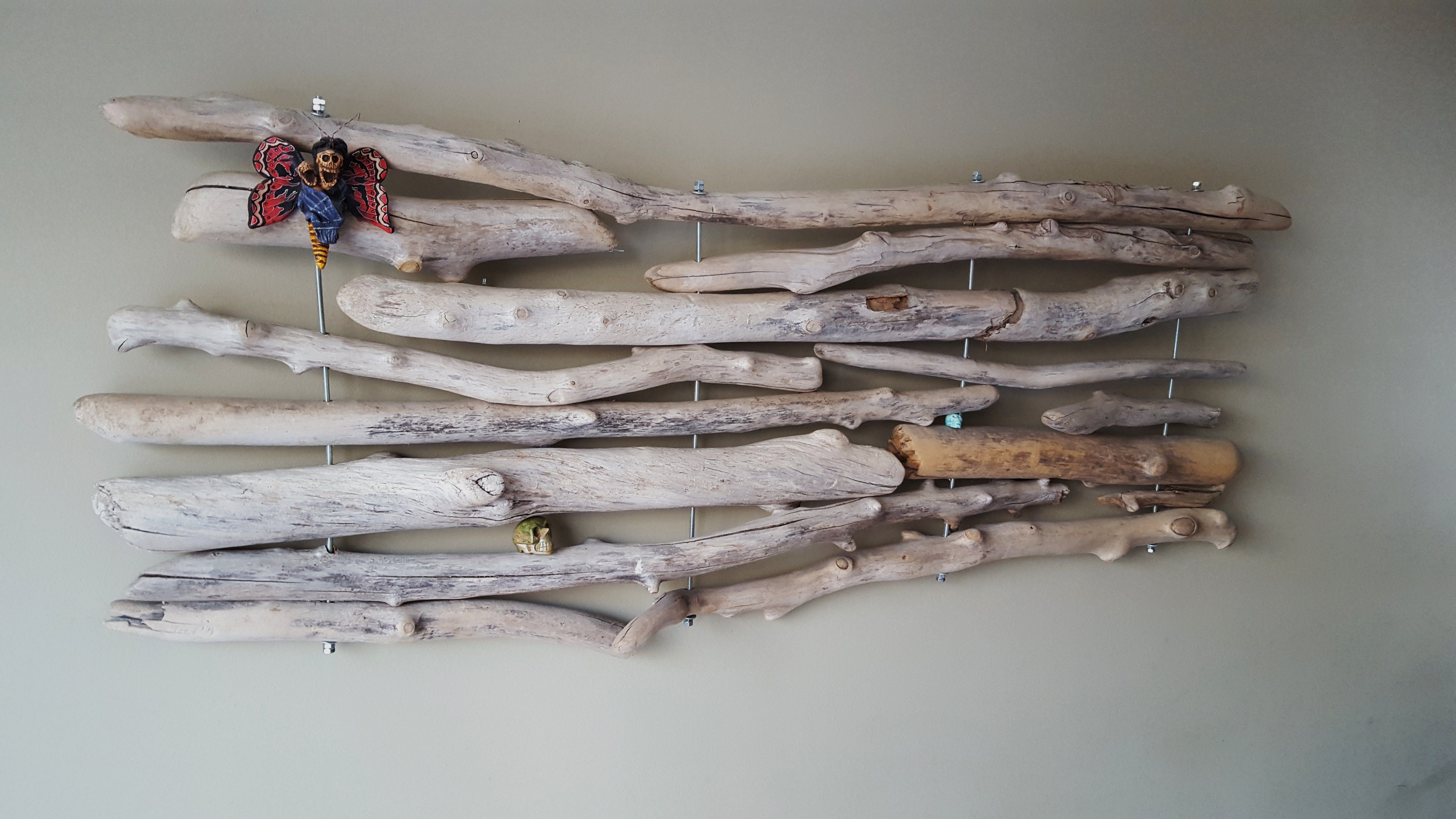 This is a wall decoration that I made from driftwood.