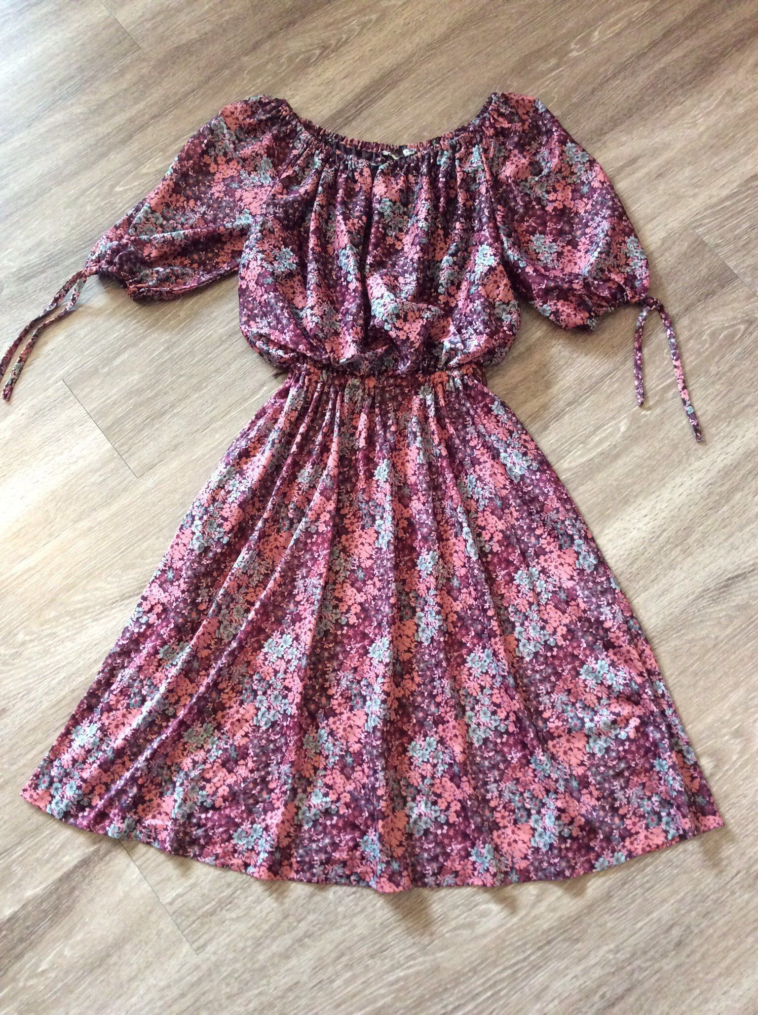 Vintage 70s Summer Dress Floral Sundress Disco Dress Etsy Disco Dress Vintage Summer Fashion Floral Dress Summer [ 2056 x 1536 Pixel ]
