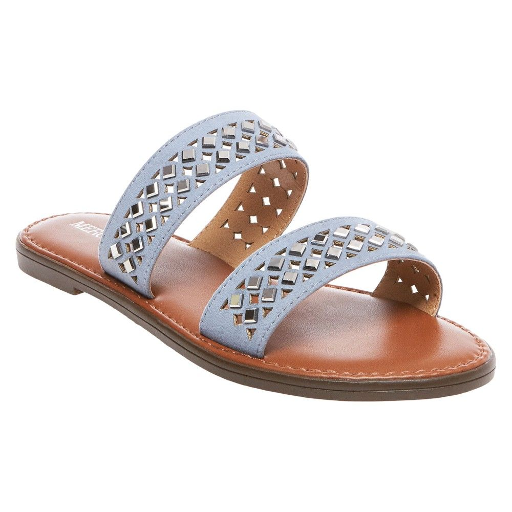 37fb2e1d081 Women s Mina Slide Sandals Merona - Blue 5.5