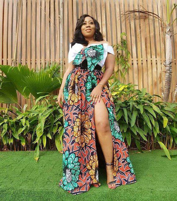 badb6391a3 Two piece Africa print Cocktail dress