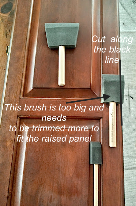 how to paint raised panel kitchen cabinet doors with General ...