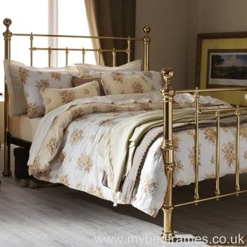 Benjamin Metal Bedframe Antique Brass Bedroom Brass