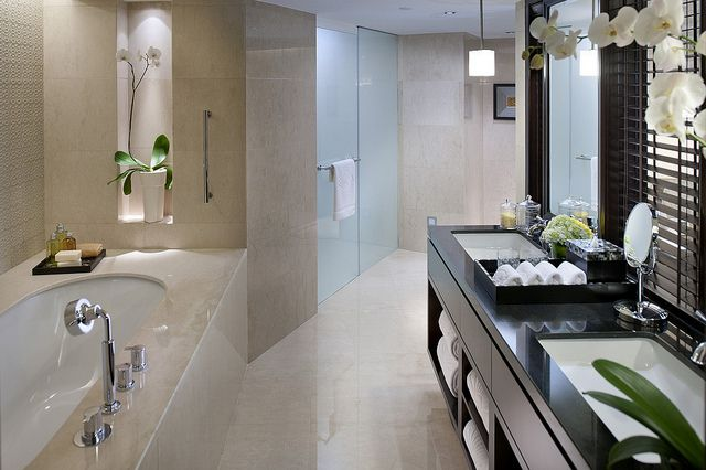 Pin On Baths And Restrooms Luxury hotel bathroom in jakarta
