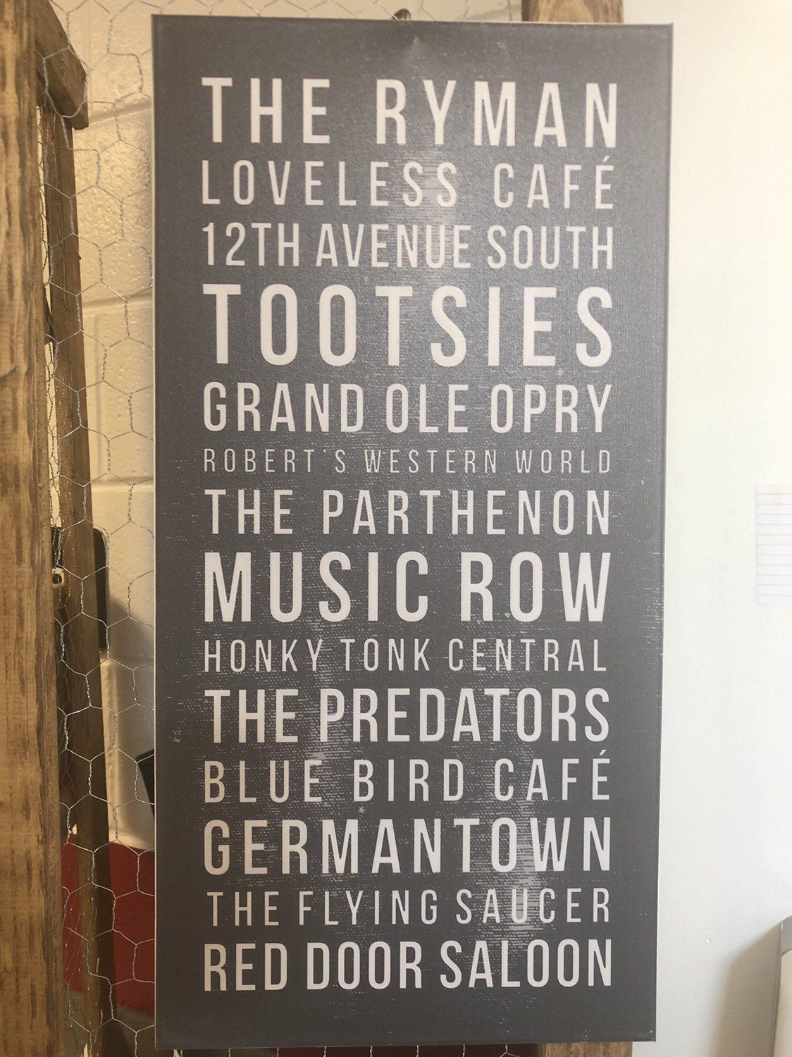 Excited To Share Our Nashville Favorites Canvas Https Etsy Me