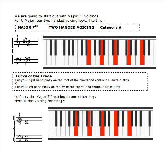 Piano Jazz Chord Chart  Piano    Piano Jazz Pianos