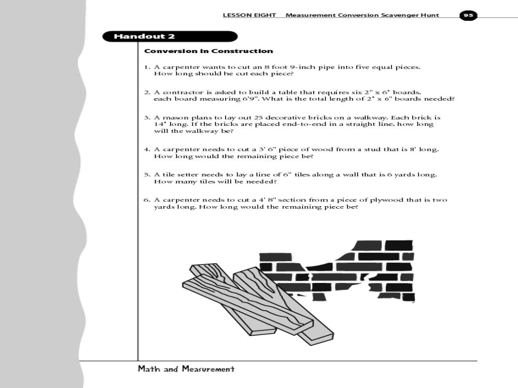 Measurement Conversion Scavenger Hunt Lesson Plan