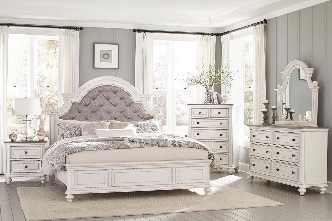 Baylesford Panel Bedroom Set White Bedroom Set Bedroom