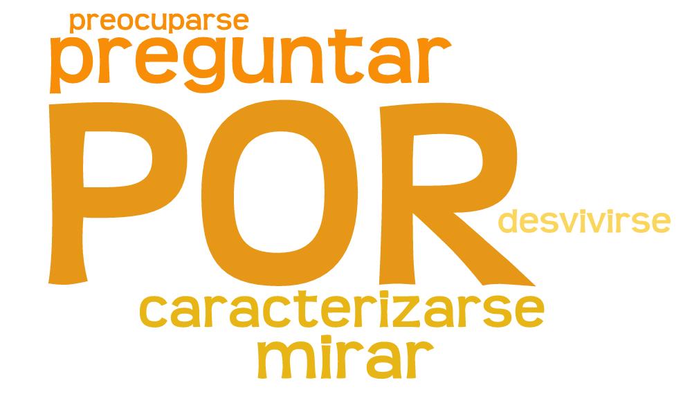 Verbos con preposición POR