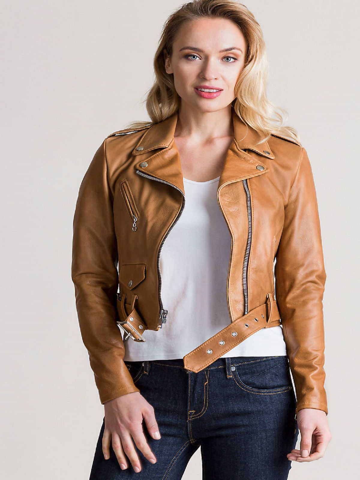 Women's Rust Brown Leather Jacket Leather jacket