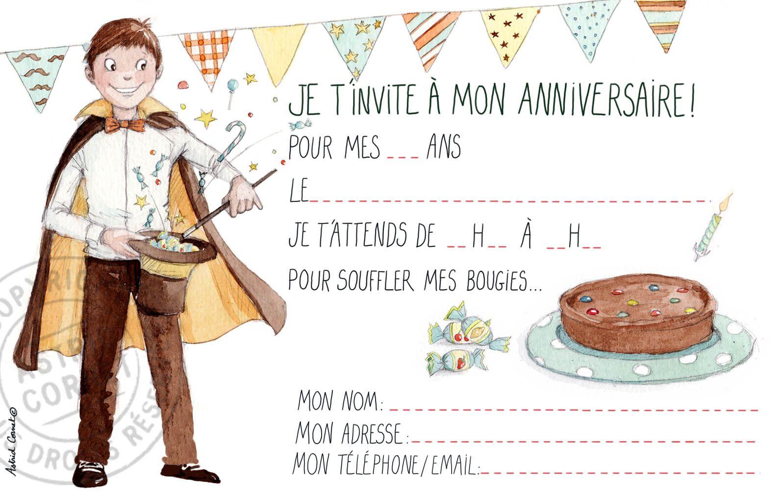 8 cartes d'invitation pour un garçon avec enveloppes chocolat #fairepart #birthdayparty # ...