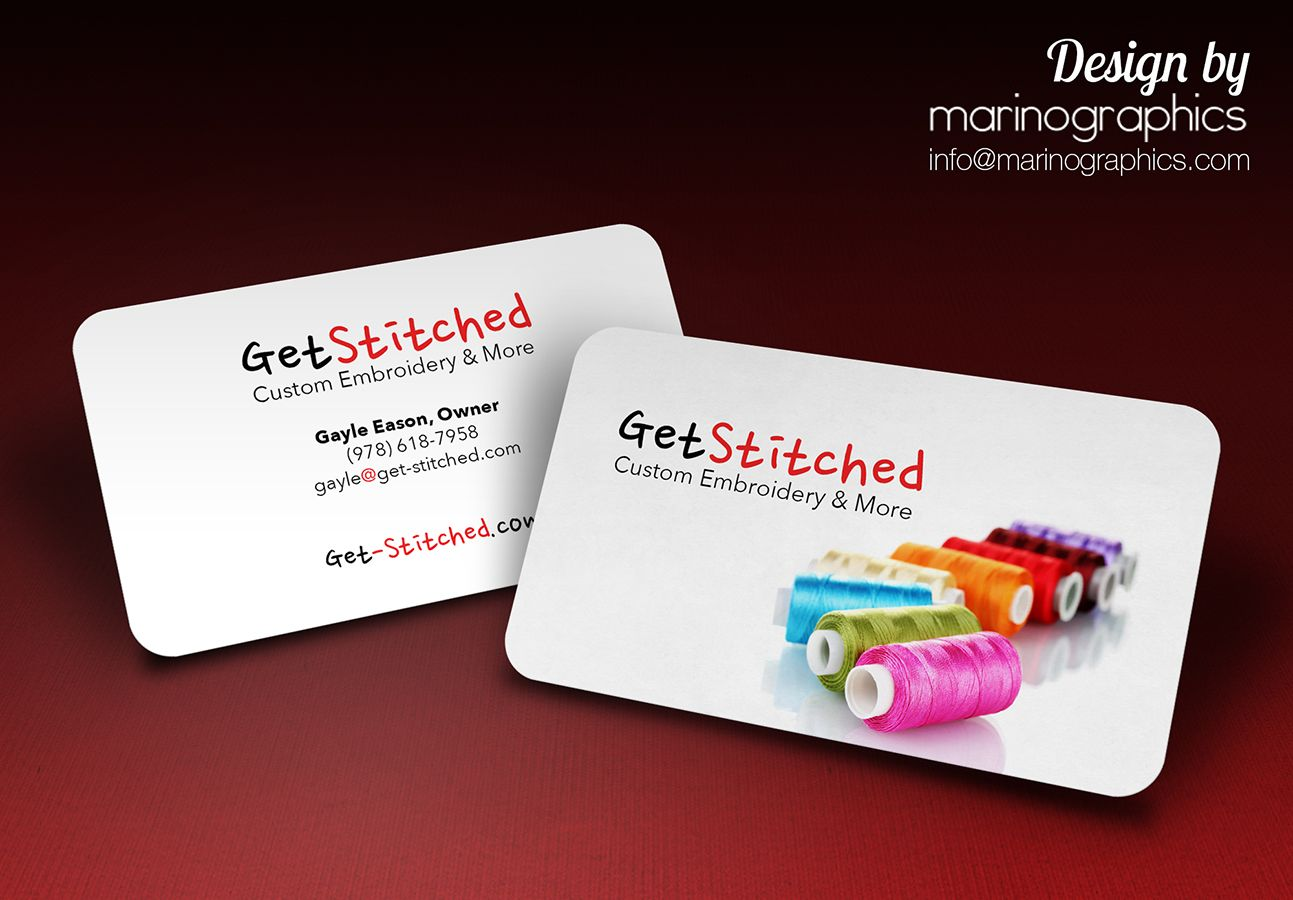 embroidery #business #card #design by marinographics.com ...