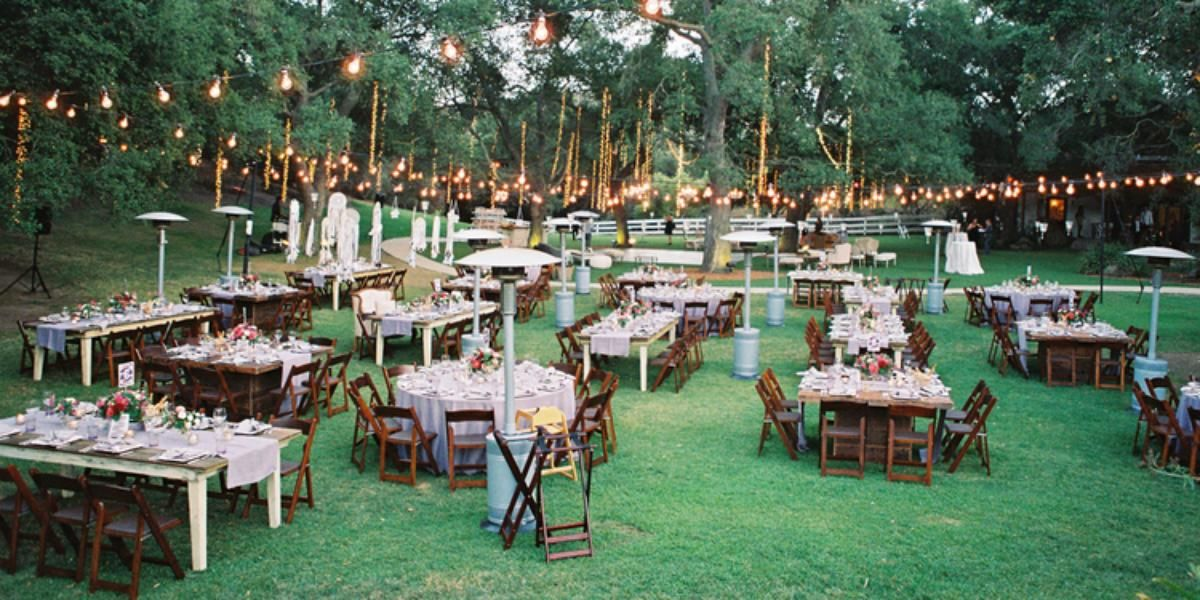 Garden Setting At Saddlerock Ranch Weddings Get Prices For Los