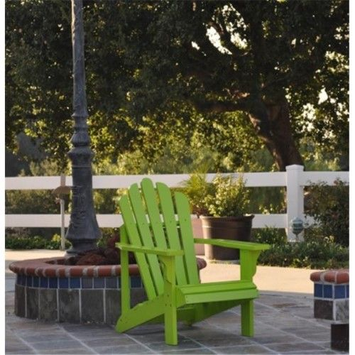 Shine Company 4611lg Clic Westport Standard Adirondack Chair Lime Green Furniture Lawn