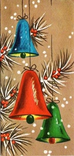 Vintage Christmas Bells Clip Art | christmas bells