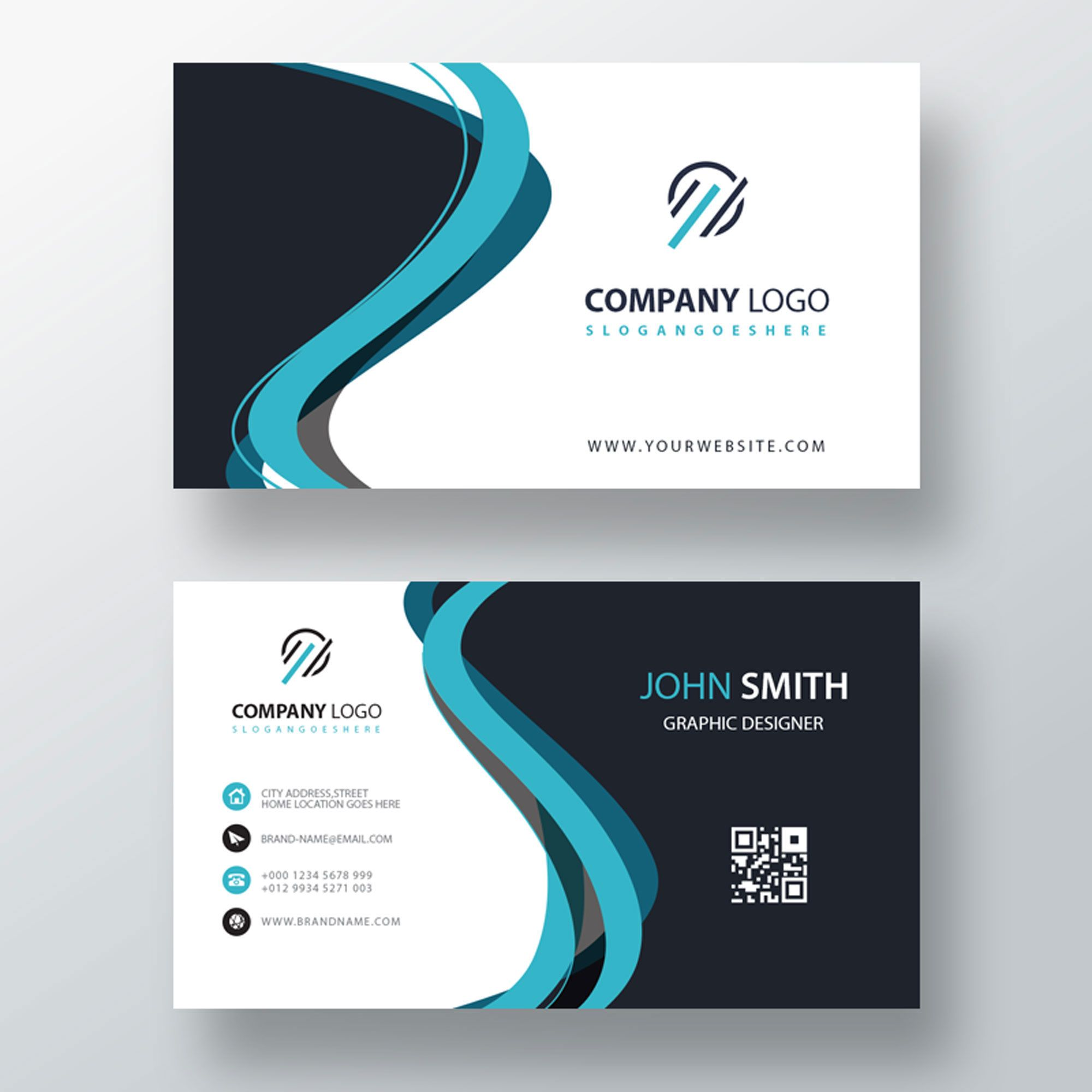 Classic Company Visiting Card Template Free Customize Inside Buisness Card Temp Shaped Business Cards Free Business Card Templates Business Card Template Psd