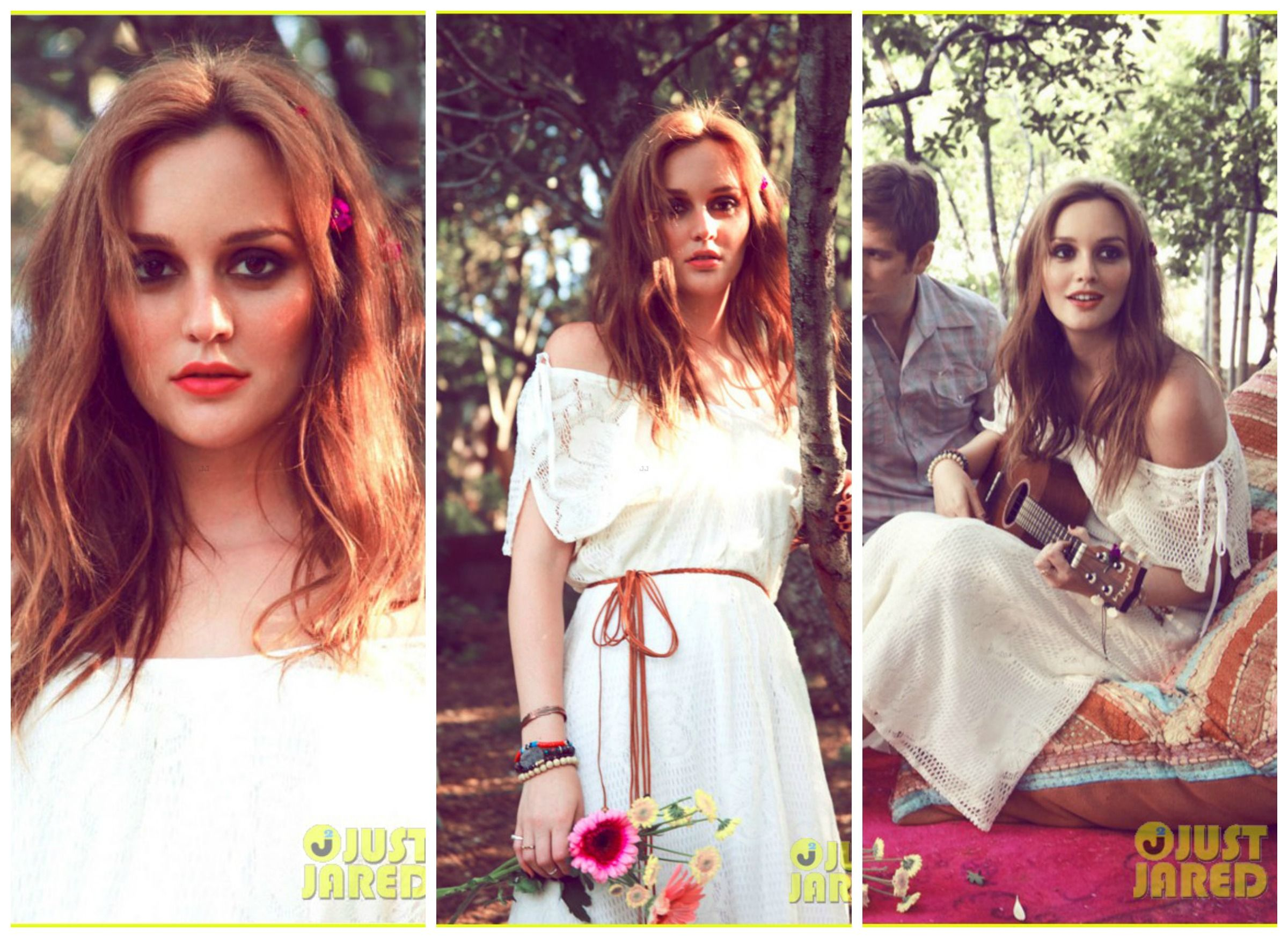 Leighton Meester in this photo shoot for her and the band in the Dark's west coast tour!