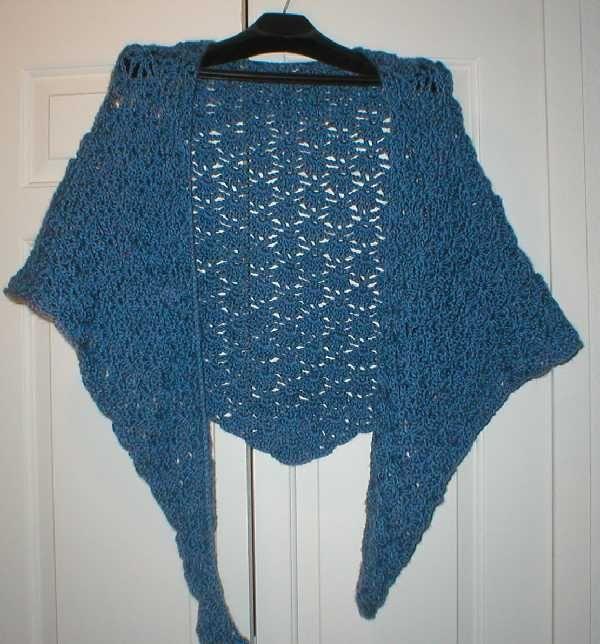hæklet tørklæde/sjal