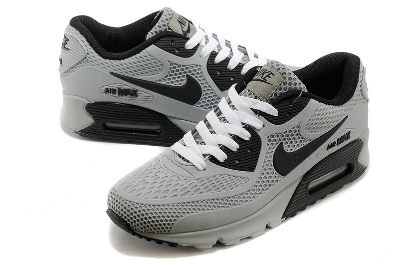 Nike Air Max 90 Light gray and black shoes Mens
