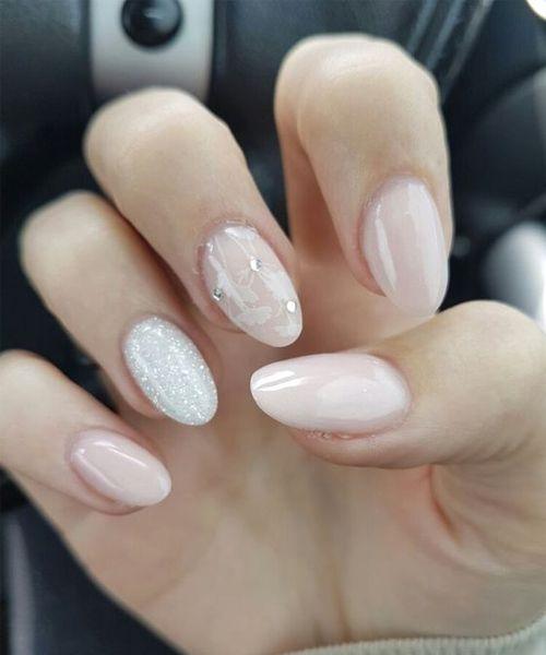 easy delicate wedding nail art
