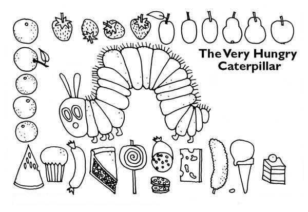Caterpillars, : Caterpillar Surrounding with Lots of Tasty