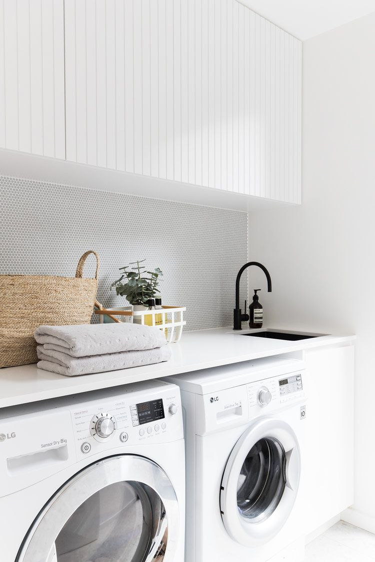 4 Tips For The Ultimate Laundry White Laundry Rooms Modern