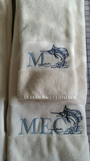 custom monogrammed towels embroidered by manos material creations