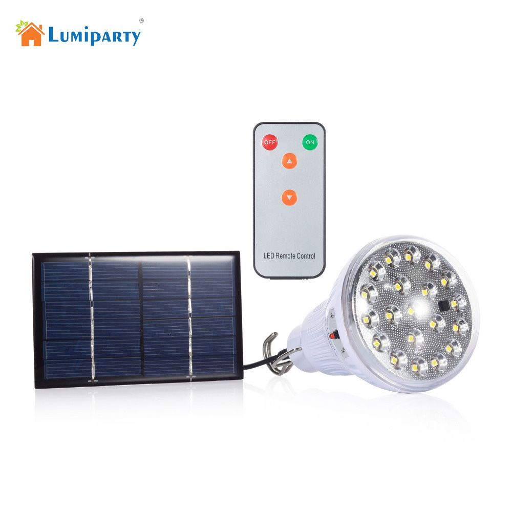 Indoor Dimmable Dc6v 20 Led 2 5w Remote Control Solar Light Led Light Outdoor Garden Decoration Solar Solar Powered Lights Solar Powered Led Lights Solar Lamp