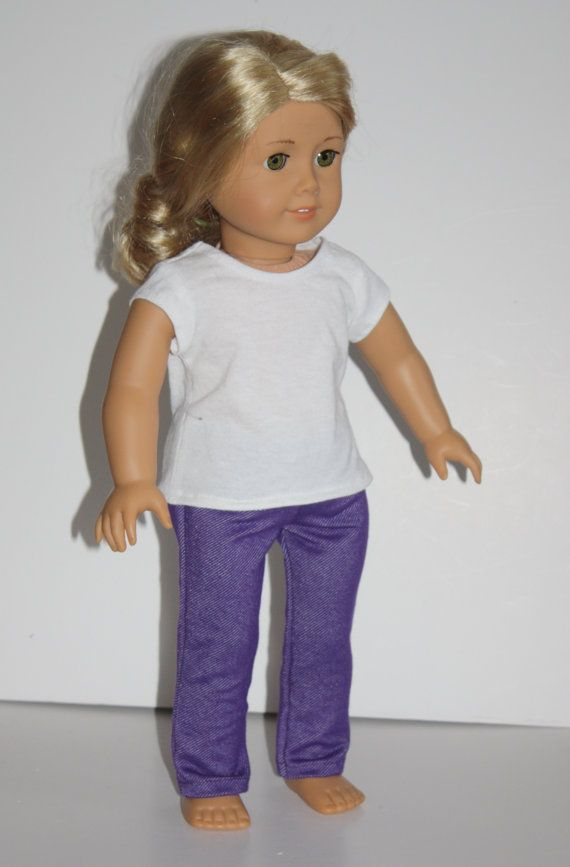 """18"""" Doll Purple Skinny Jeans stretch Fit 18"""" Doll, Doll Clothes fit dolls like American Girl"""