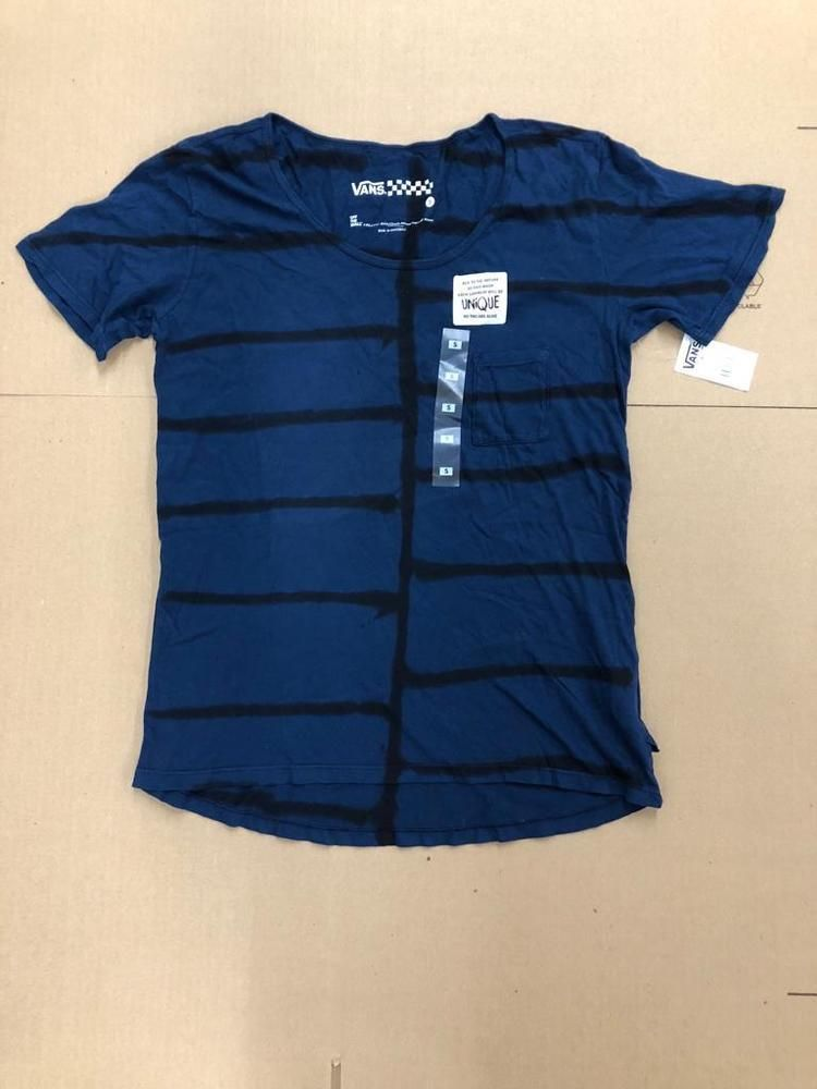 19c15cdecb VANS POCKET TEE BLUE BLACK STRIPES VN0003RSIND WOMEN S SIZE SMALL NEW WITH  TAG  fashion  clothing  shoes  accessories  womensclothing  tops (ebay link)