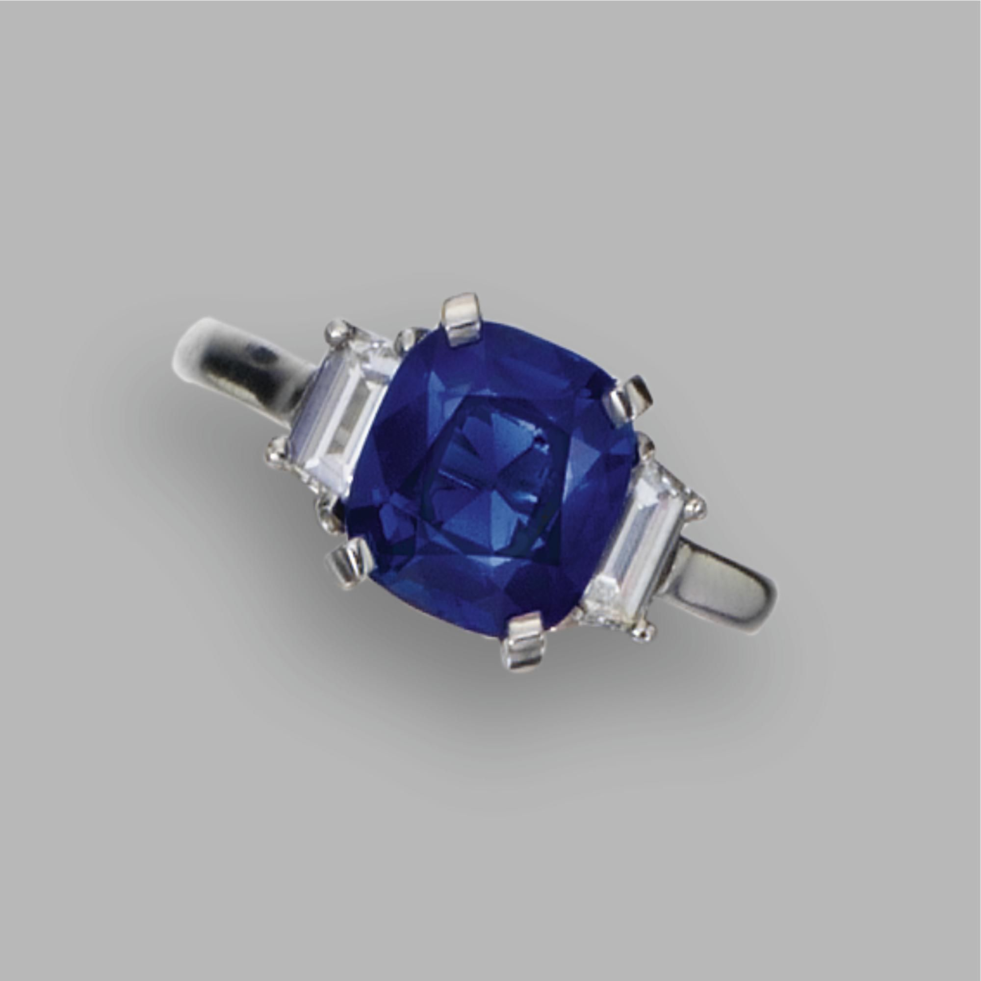 carat total sapphire weight trillion over cut pin cushioncut diamonds with