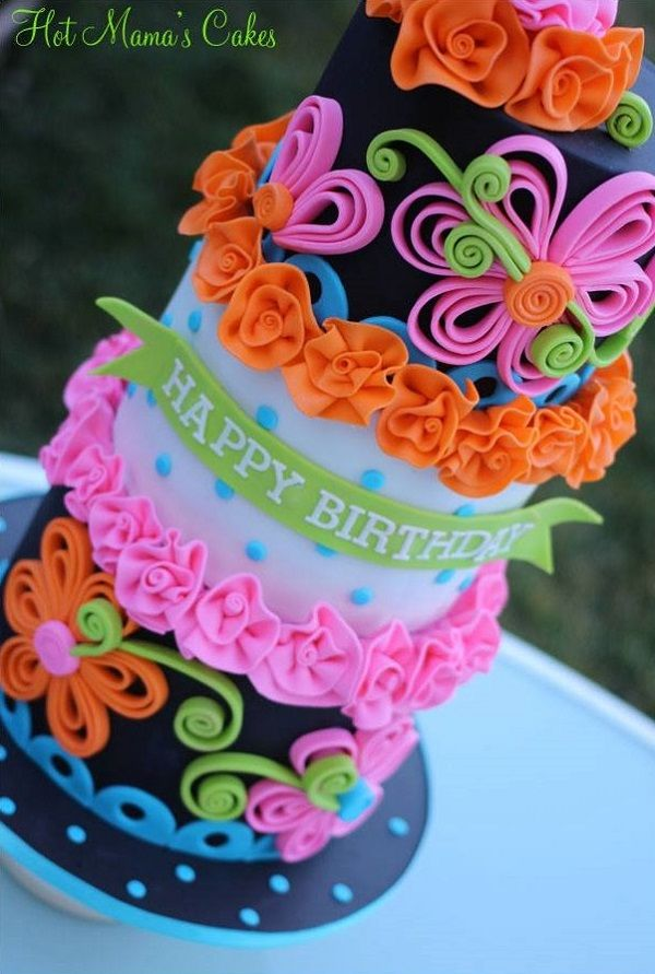 Neon Cakes And Parties To Dazzle Your Guests Quill Cake And - Neon birthday party cakes