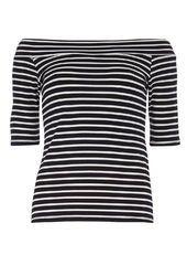 Navy Stripe Jersey Bardot