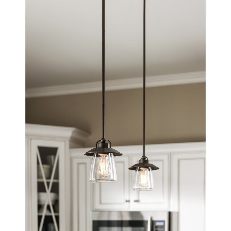 Allen roth bristow mini pendant light with clear shade at loweus
