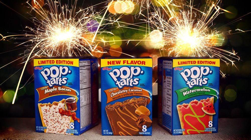 Kellogg's Pop-Tarts Flavors Maple Bacon, Chocolatey Caramel and Watermelon