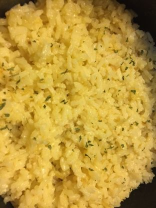 Garlic Butter Rice #seasonedricerecipes