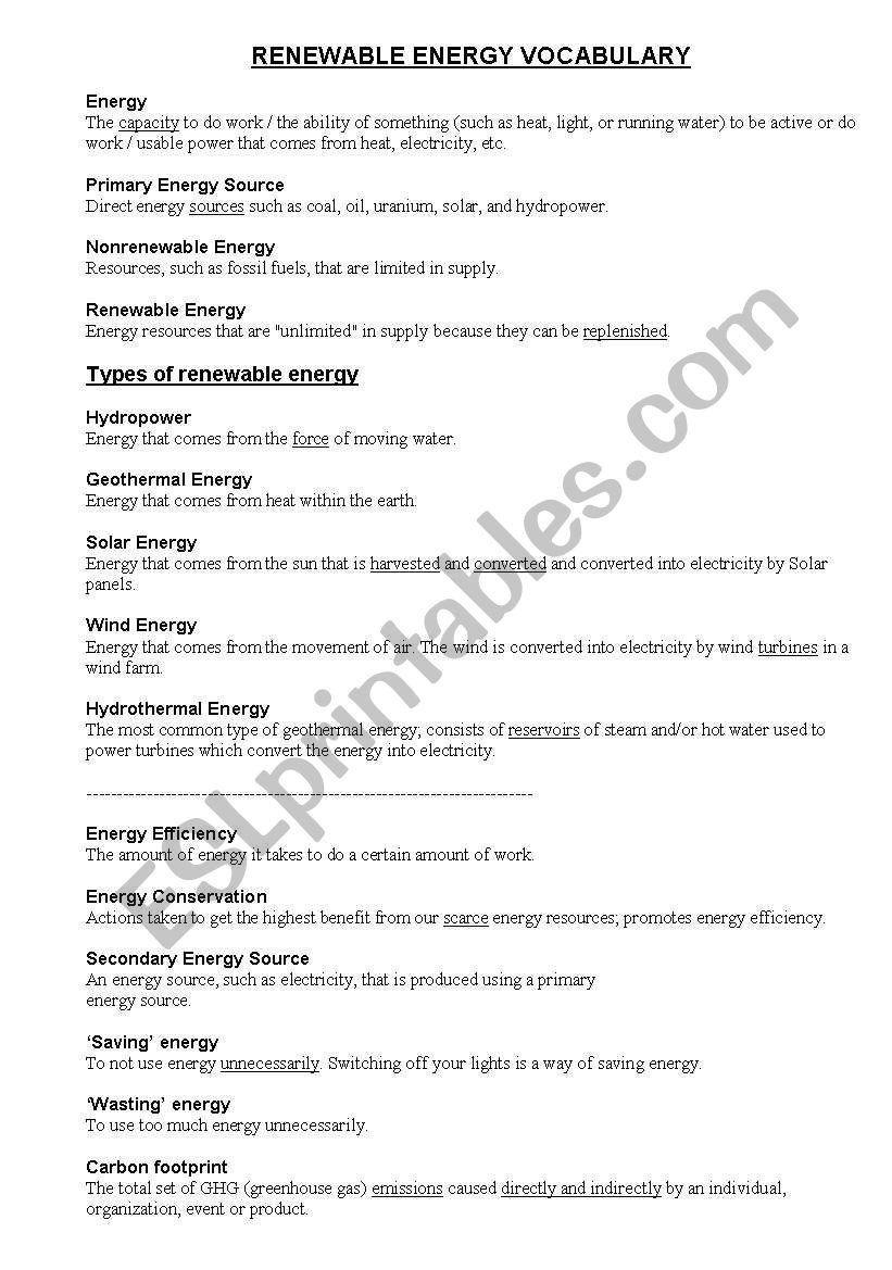 Work Power Energy Worksheet Renewable And Non Renewable Energy Worksheet Advance Nonrenewable Resources Kids Worksheets Printables Free Kindergarten Worksheets