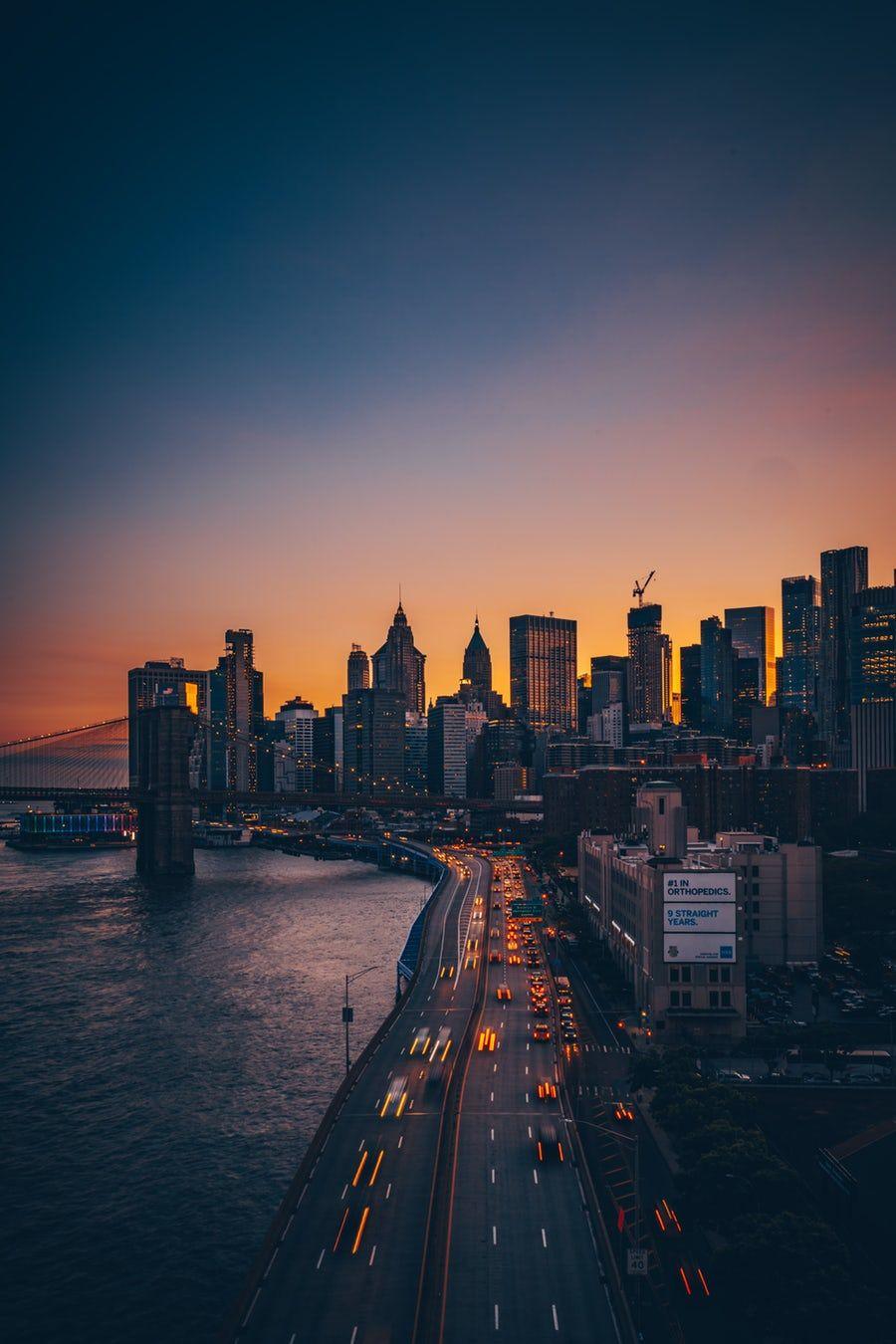 Pin Oleh Raina July Di Singkat New York Skyline Estetika Kota New York