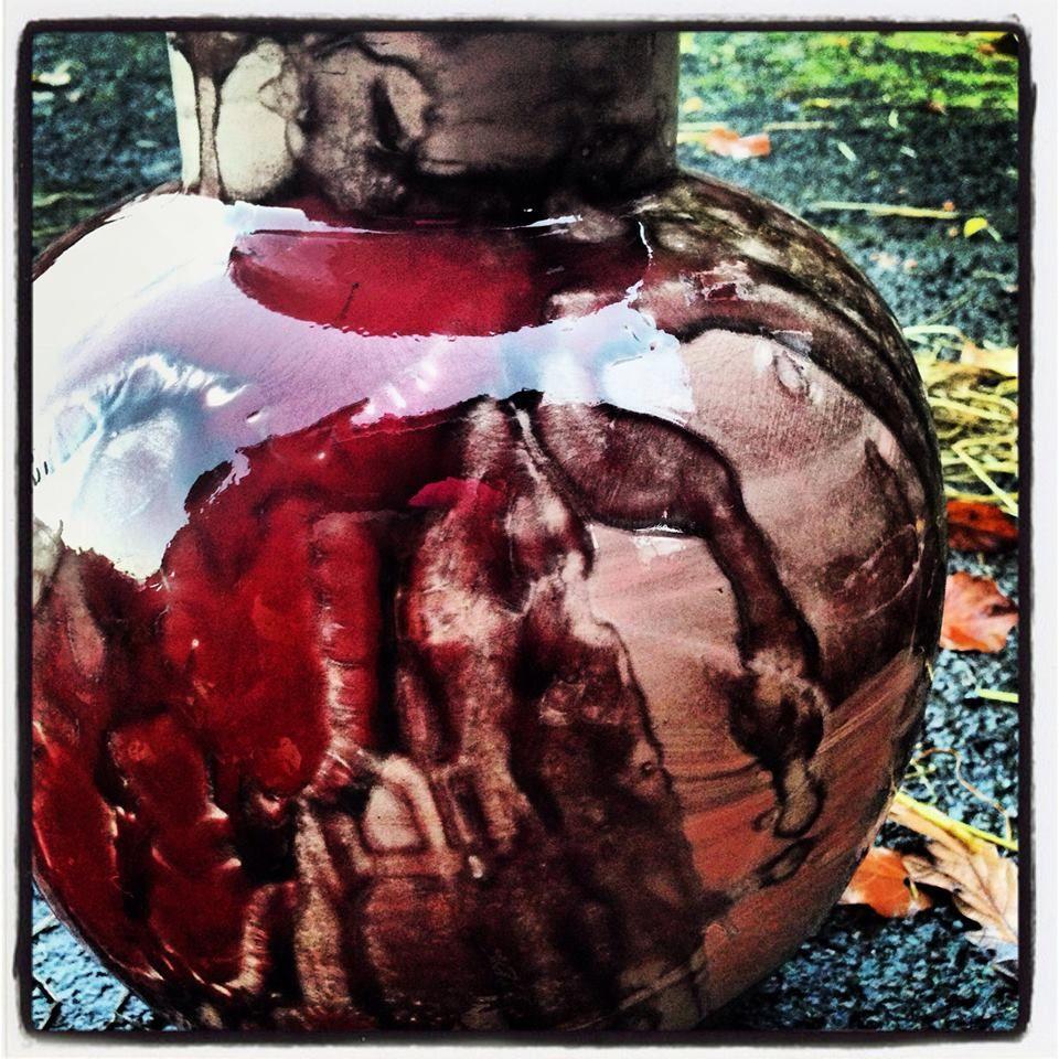 ceramic red vase