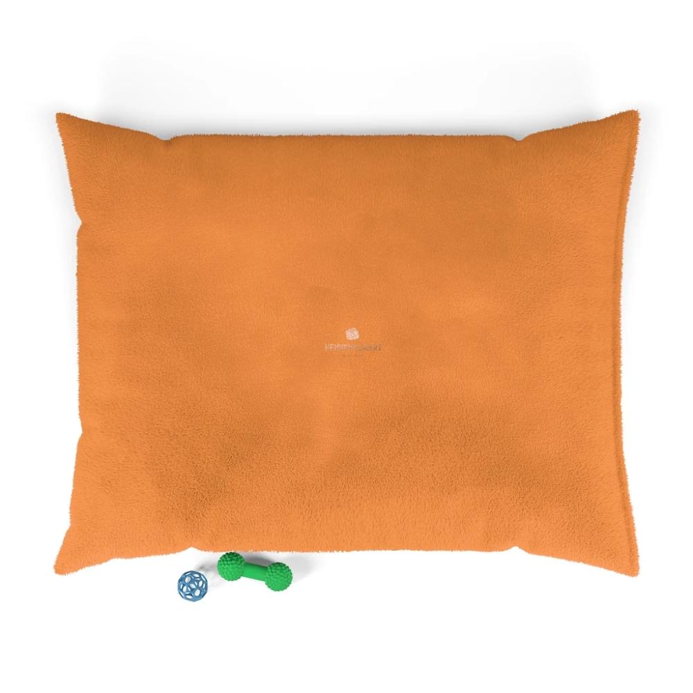 Orange Pet Bed, Solid Color MachineWashable Pet Pillow