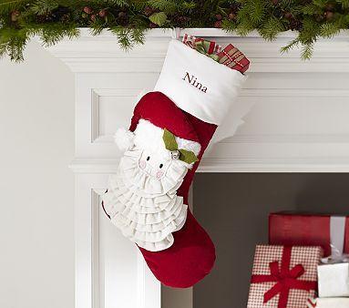 Santa Luxe Velvet Stocking #pbkids