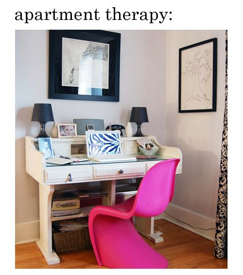 That Pink Panton Chair Grabbed Our Attention, But Itu0027s Jenu0027s Desk That  Really Deserves Front And Center