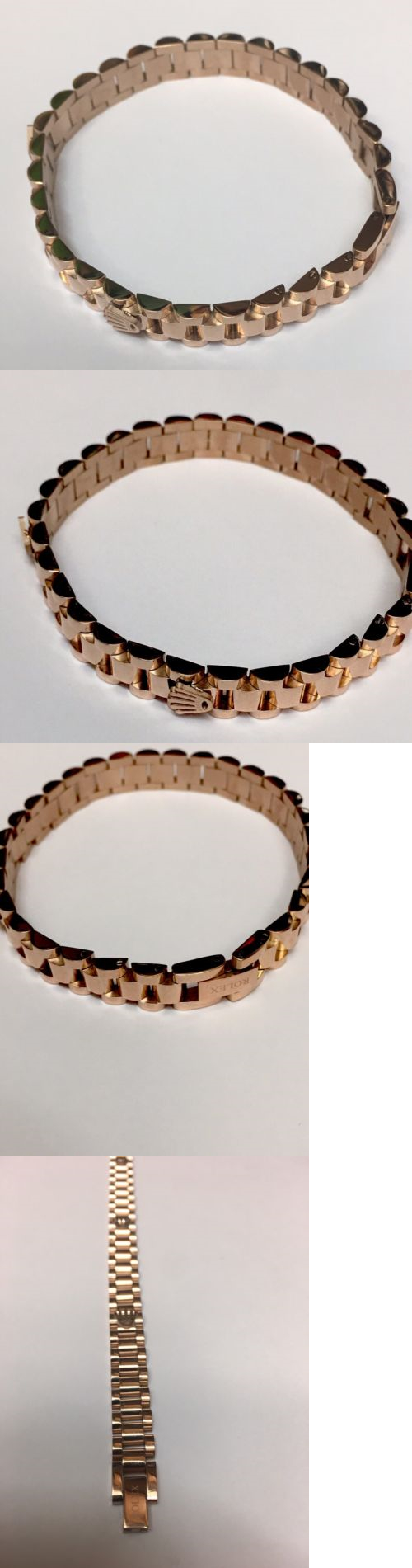 Bracelets rolex unisex k gold plated stainless steal