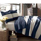 Two-Tone Stripe Quilt Set