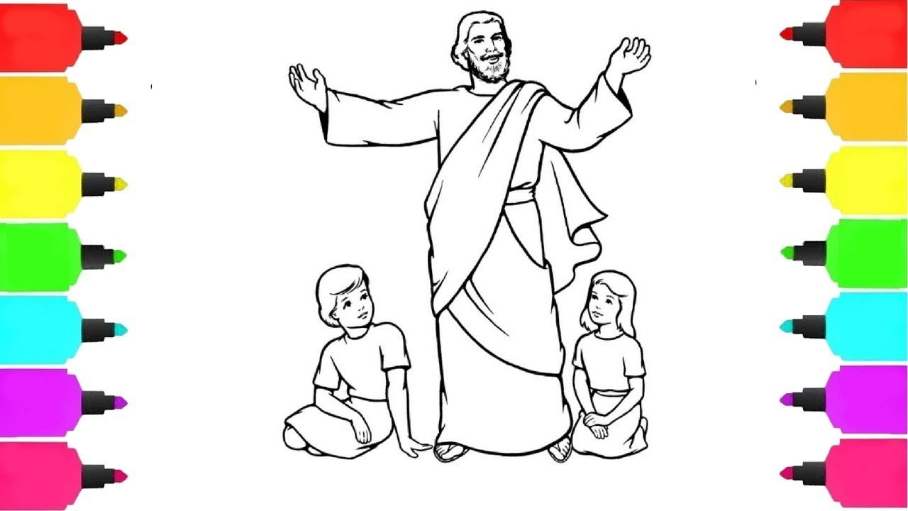How to draw jesus for kids, How to draw Jesus Christ drawing