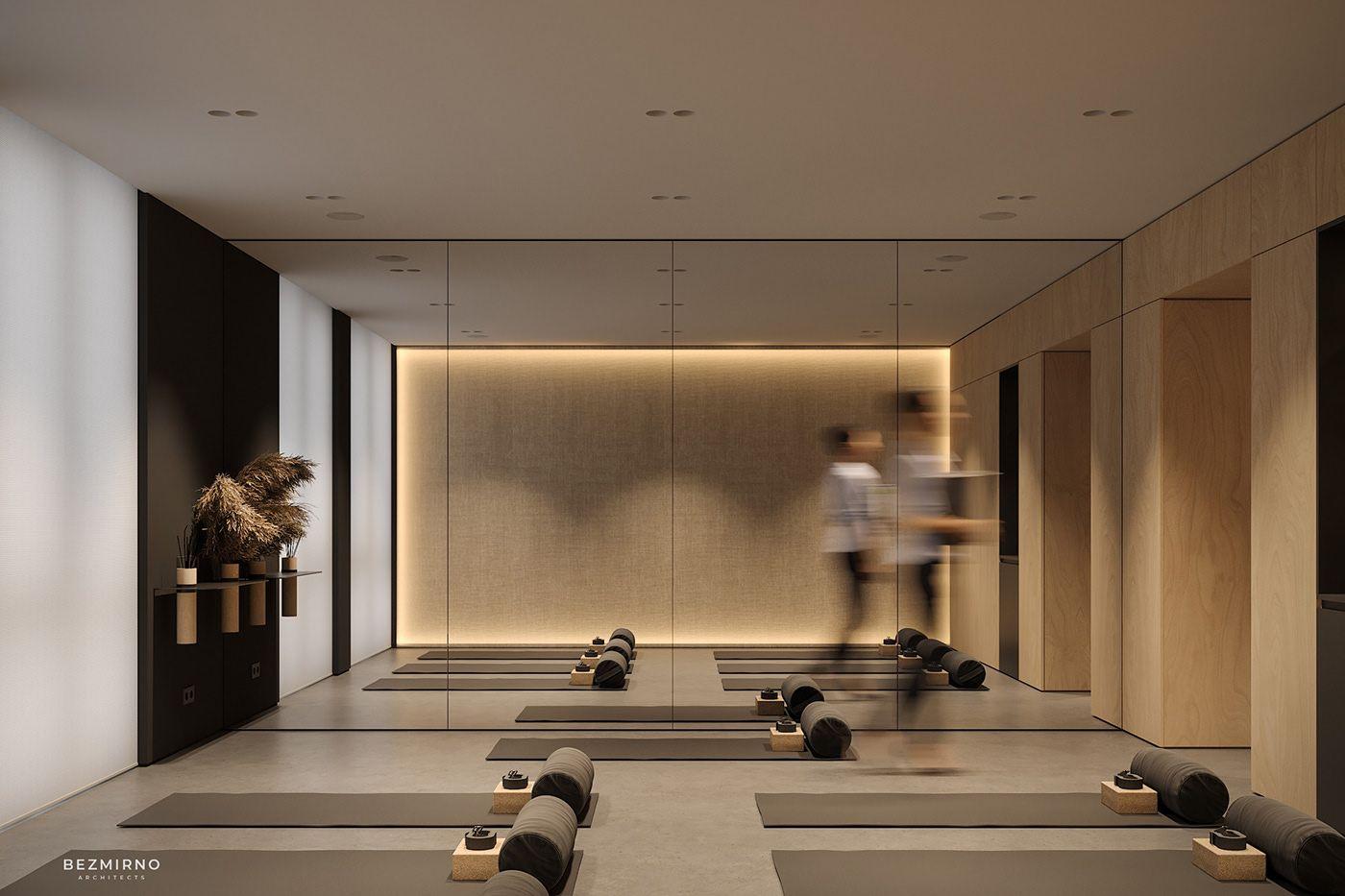 Little Yoga On Behance In 2020 Yoga Room Design Yoga Studio Interior Gym Room At Home