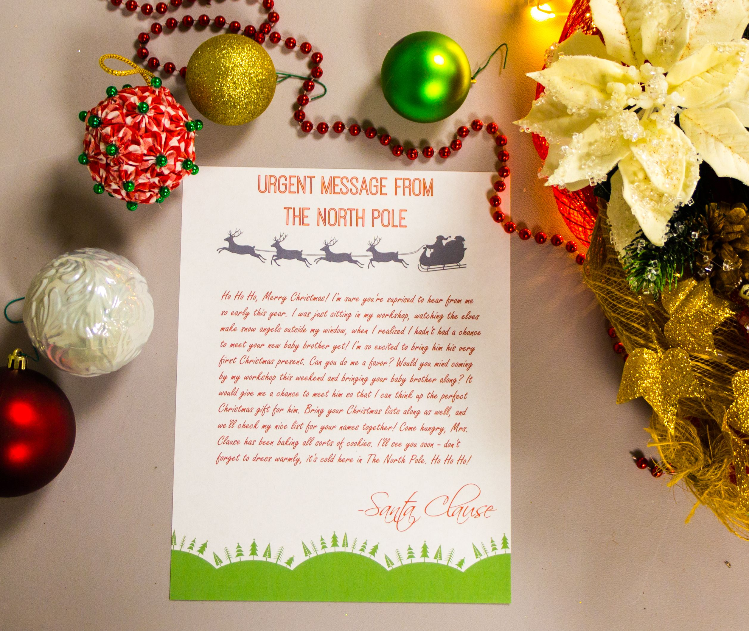Free Printable Santa Letter  Urgent Message From The North Pole