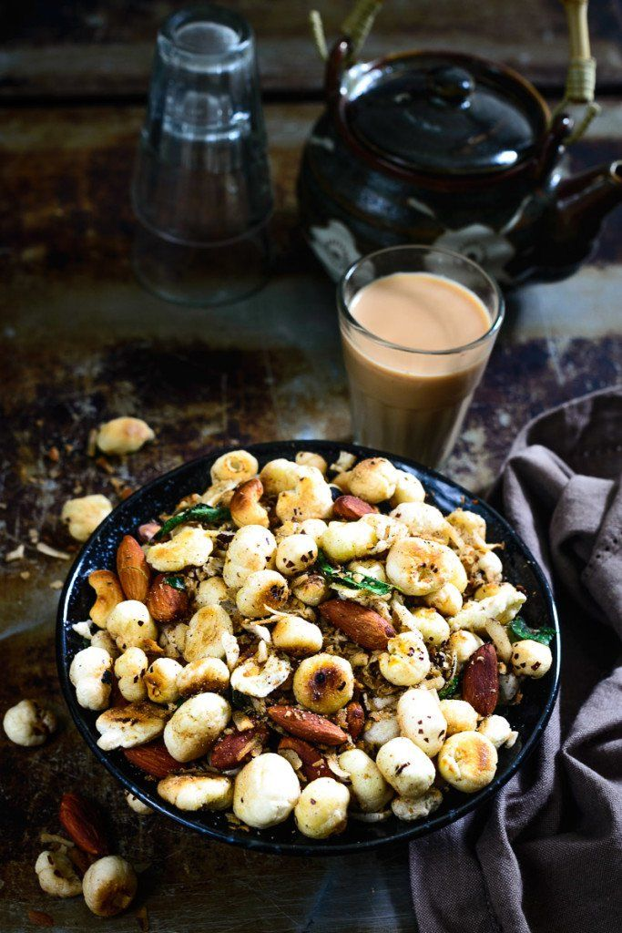 Makhana namkeen recipe snacks recipes and north indian recipes makhana namkeen dry snackslight snackshealthy indian snacksholi recipessnacks forumfinder Image collections