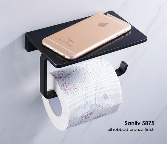 Solid Brass Hotel Bathroom Single Roll Toilet Paper Holder With Shelf Chrome Toilet Paper Holder Modern Toilet Paper Holders Bathroom Accessories Sets